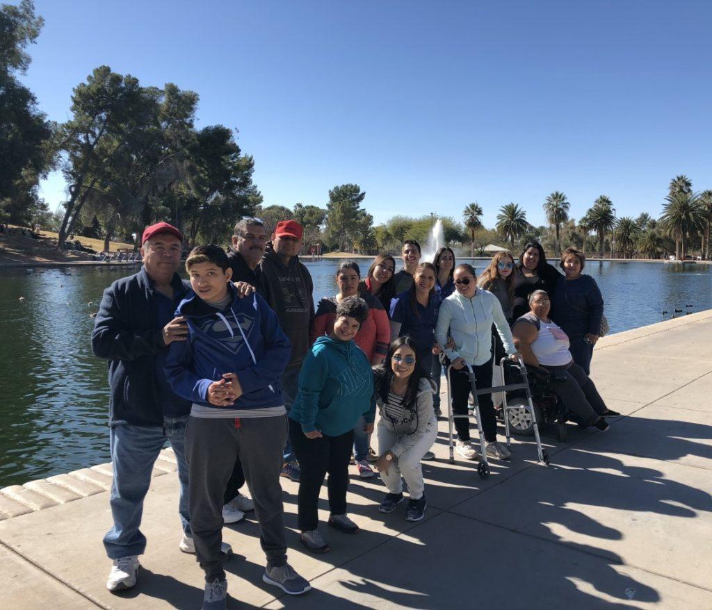 Visiting a lake
